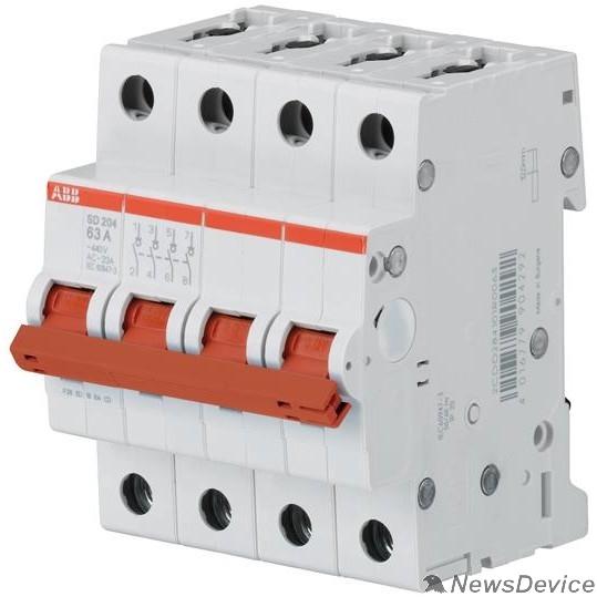 АВВ Дополнительные модульные устройства ABB 2CDD284101R0040 Рубильник 4пол. SD204/40 рычаг крас.