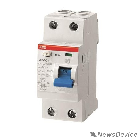 Аксессуары для выключателей нагрузки ABB 2CSF202001R1400 Выкл.диф.тока 2мод. F202 AC-40/0,03
