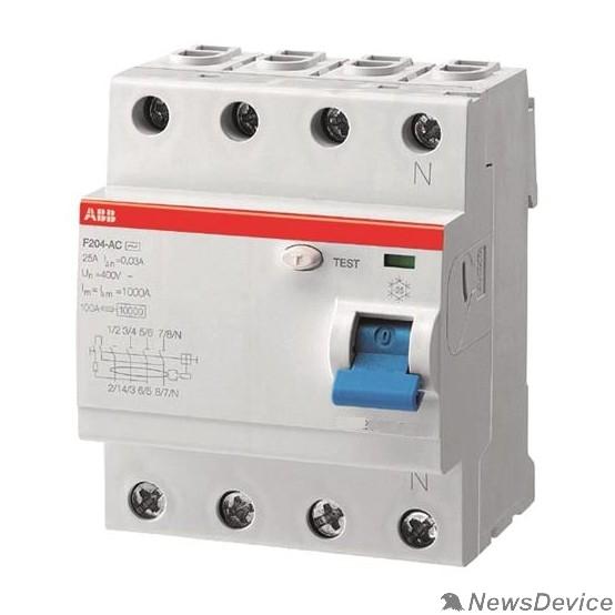 Аксессуары для выключателей нагрузки ABB 2CSF204001R1400  Выкл.диф.тока 4мод. F204 AC-40/0,03