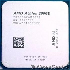 Процессор CPU AMD Athlon 200GE OEM (YD200GC6M2OFB) 3.2 GHz/2core/1+4Mb/SVGA RADEON Vega 3/35W/Socket AM4