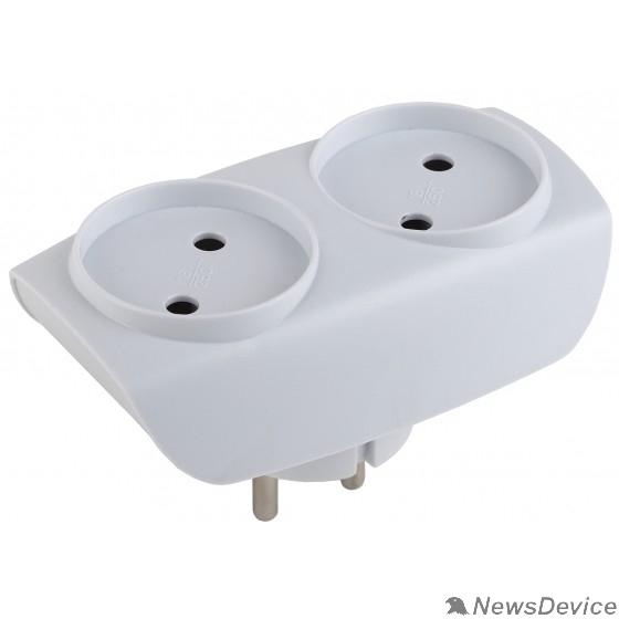ЭРА Удлинители бытовые, Сетевые фильтры ЭРА C0045520 Разветвитель SP-2-W белый 2гн, без заземл
