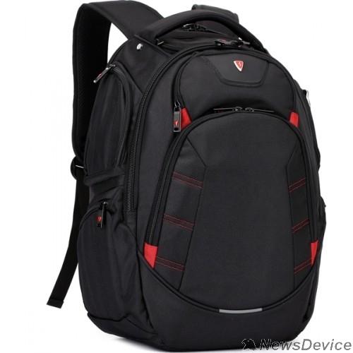 "Сумка для ноутбука Рюкзак SUMDEX PJN-303 BK нейлон, черная, до 16"""