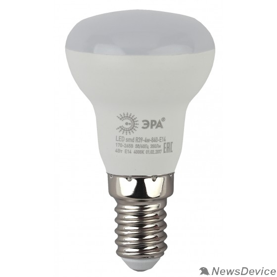 ЭРА Светодиодные лампы ЭРА Б0020555 Светодиодная лампа рефлекторная LED smd R39-4w-840-E14..