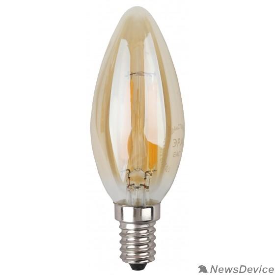 ЭРА Светодиодные лампы ЭРА Б0027964 Светодиодная лампа свеча золотая F-LED B35-7w-827-E14 gold