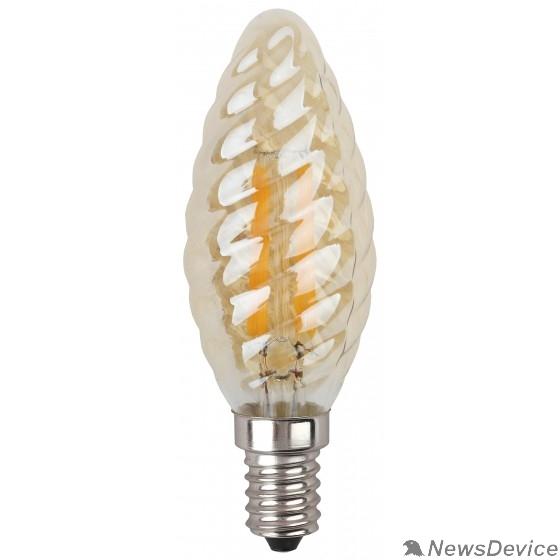 ЭРА Светодиодные лампы ЭРА Б0027941 Светодиодная лампа свеча витая золотая F-LED BTW-5w-827-E14 gold