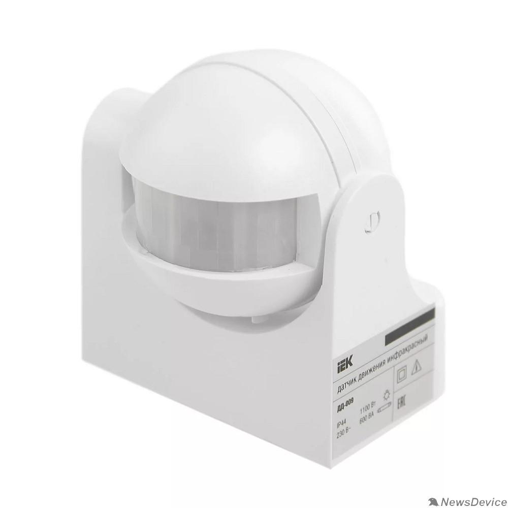 датчик движения Iek LDD10-009-1100-001 Датчик движения ДД 009 белый, макс.  нагрузка 1100Вт, угол обзора 180град., дальность 12м, IP44, ИЭК