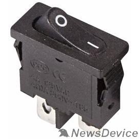 Rexant Кнопки, тумблеры, клавишные выключатели Rexant 36-2050 Выключатель клавишный 250V 6А (2с) ON-OFF черный  Mini