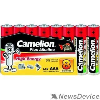 Батарейка Camelion  LR03  Plus Alkaline SP8 (LR03-SP8, батарейка,1.5В) (8 шт. в уп-ке)