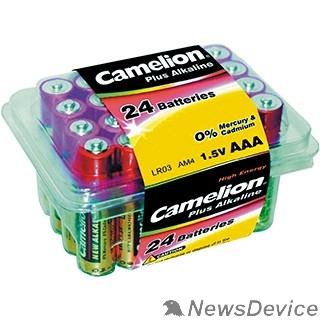 Батарейка Camelion  LR03 Plus Alkaline PB-24 (LR03-PB24, батарейка,1.5В) (24 шт. в уп-ке)