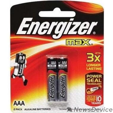 Батарейка Energizer MAX E92/AAA BP2  LR03  RU (2 шт. в уп-ке)