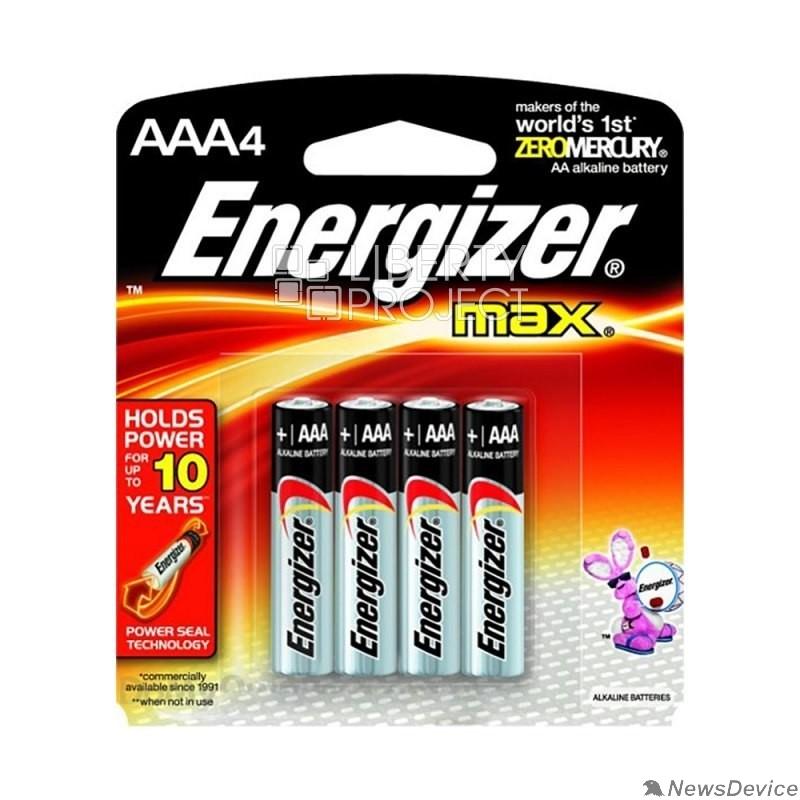 Батарейка Energizer MAX E92/AAA BP4  LR03 RU (LR03/4BL MAX) (4 шт. в уп-ке)