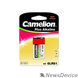 Батарейки  Camelion 6LF22 Plus Alkaline BL-1 (6LR61-BP1, батарейка,9В) (1 шт. в уп-ке)