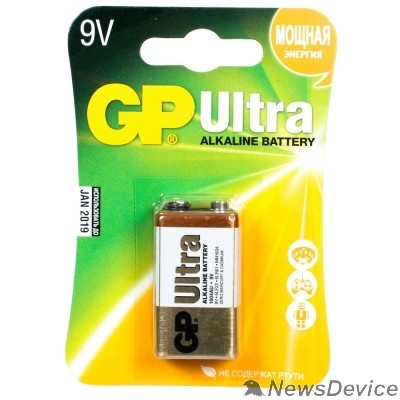 Батарейки  GP 1604AU-5CR1 10/200  Ultra  (1 шт. в уп-ке) крона