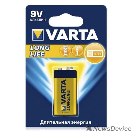 Батарейки  VARTA 6LR61/1BL LONG LIFE 4122 (MN1604/6LP3146)  (1 шт. в уп-ке)