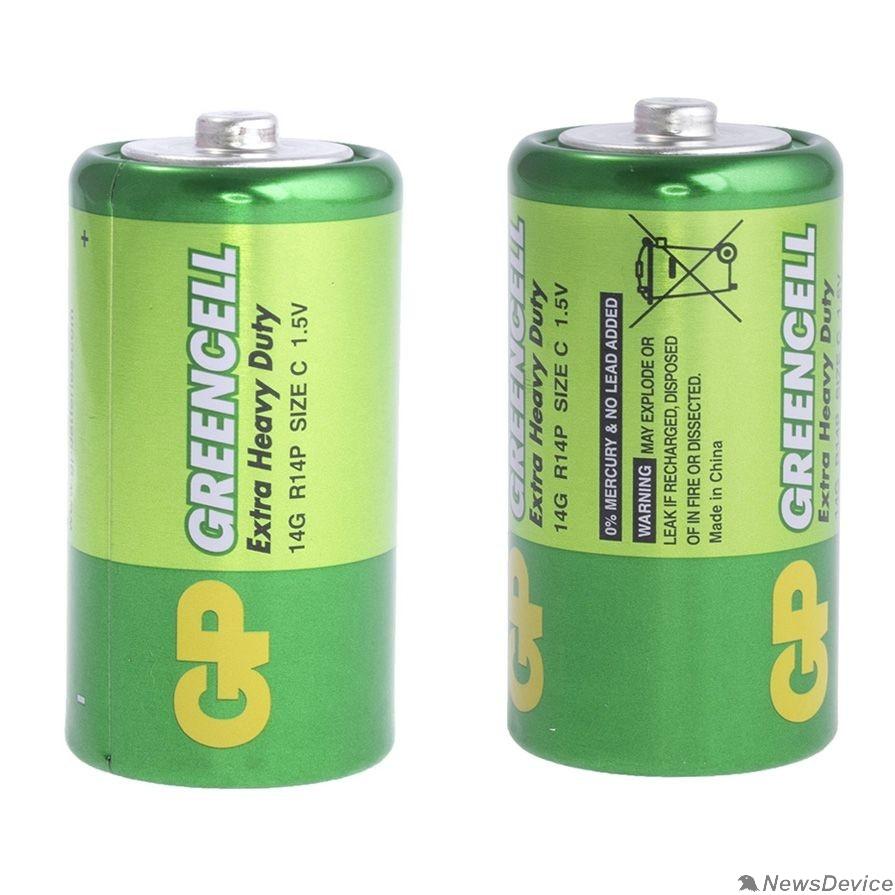 Батарейки GP 14G/R14-2S2 24/480  (2 шт. в уп-ке)