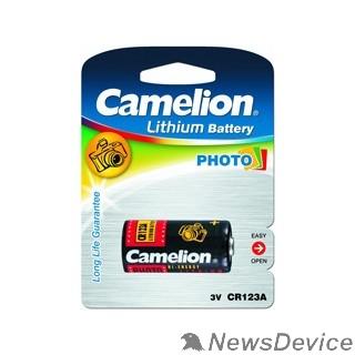 Батарейки Camelion CR123A BL-1 (CR123A-BP1, батарейка фото,3В) (1 шт. в уп-ке)