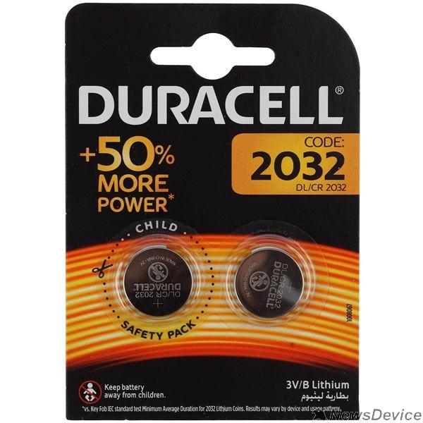 Батарейки Duracell CR2032-2BL (2 шт. в уп-ке)