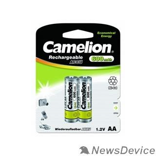 Аккумулятор Camelion   AA- 600mAh Ni-Cd BL-2 (NC-AA600BP2, аккумулятор,1.2В)