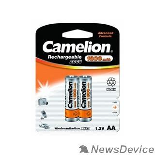 Аккумулятор Camelion   AA-1800mAh Ni-Mh BL-2 (NH-AA1800BP2, аккумулятор,1.2В)  (2 шт. в уп-ке)