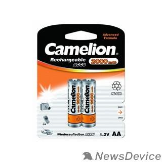 Аккумулятор Camelion   AA-2000mAh Ni-Mh BL-2 (NH-AA2000BP2, аккумулятор,1.2В)  (2 шт. в уп-ке)