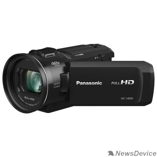 Цифровая видеокамера Видеокамера Panasonic HC-V800EE-K, Wi-Fi, FULL HD, SD видеокамера, чёрный