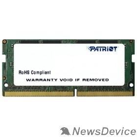Модуль памяти Patriot DDR4 SODIMM 4GB PSD44G240082S PC4-19200, 2400MHz