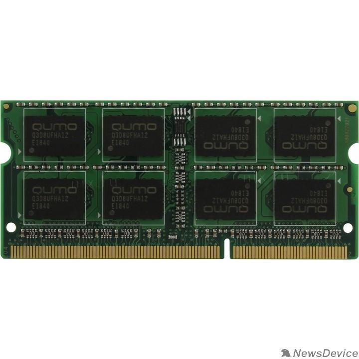 Модуль памяти QUMO DDR3 SODIMM 8GB QUM3S-8G1600C11L PC3-12800, 1600MHz, 1.35V