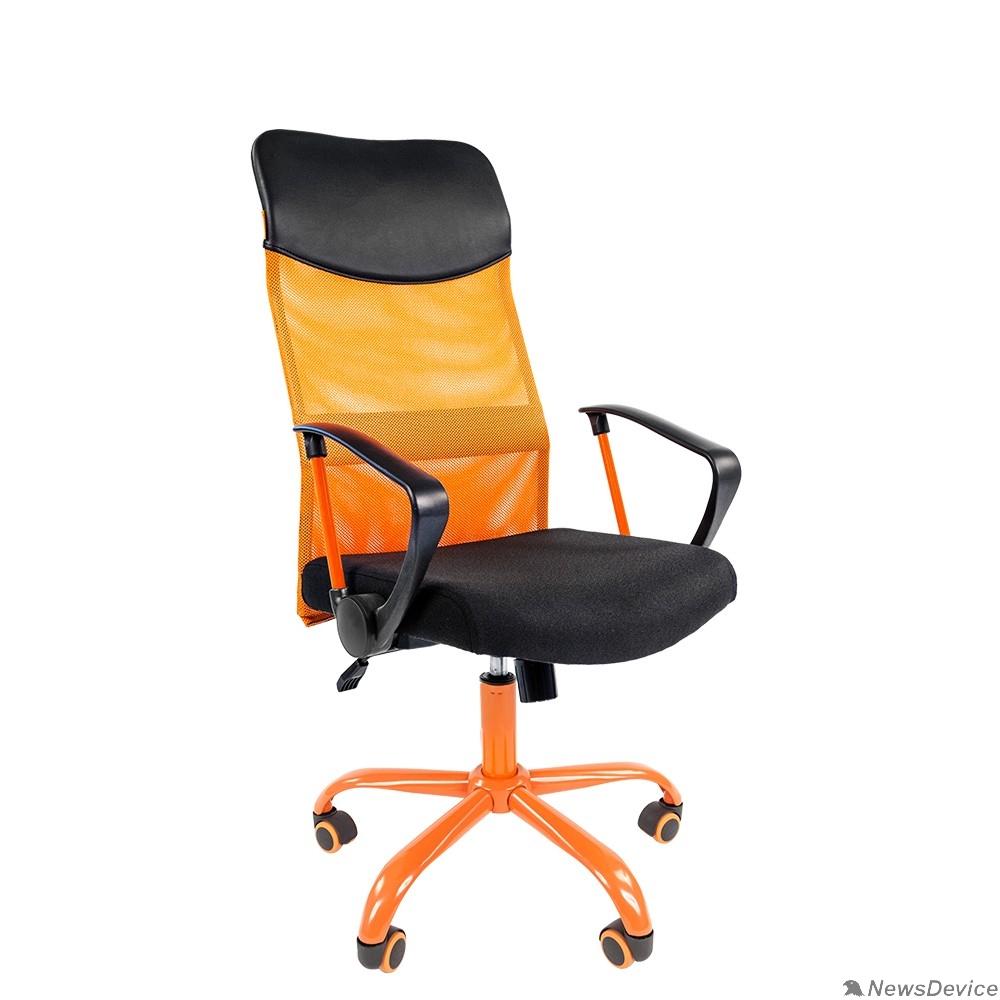 Офисные кресла Офисное кресло Chairman 610 Россия  15-21 черный + TW оранжевый/CMet (7021400)