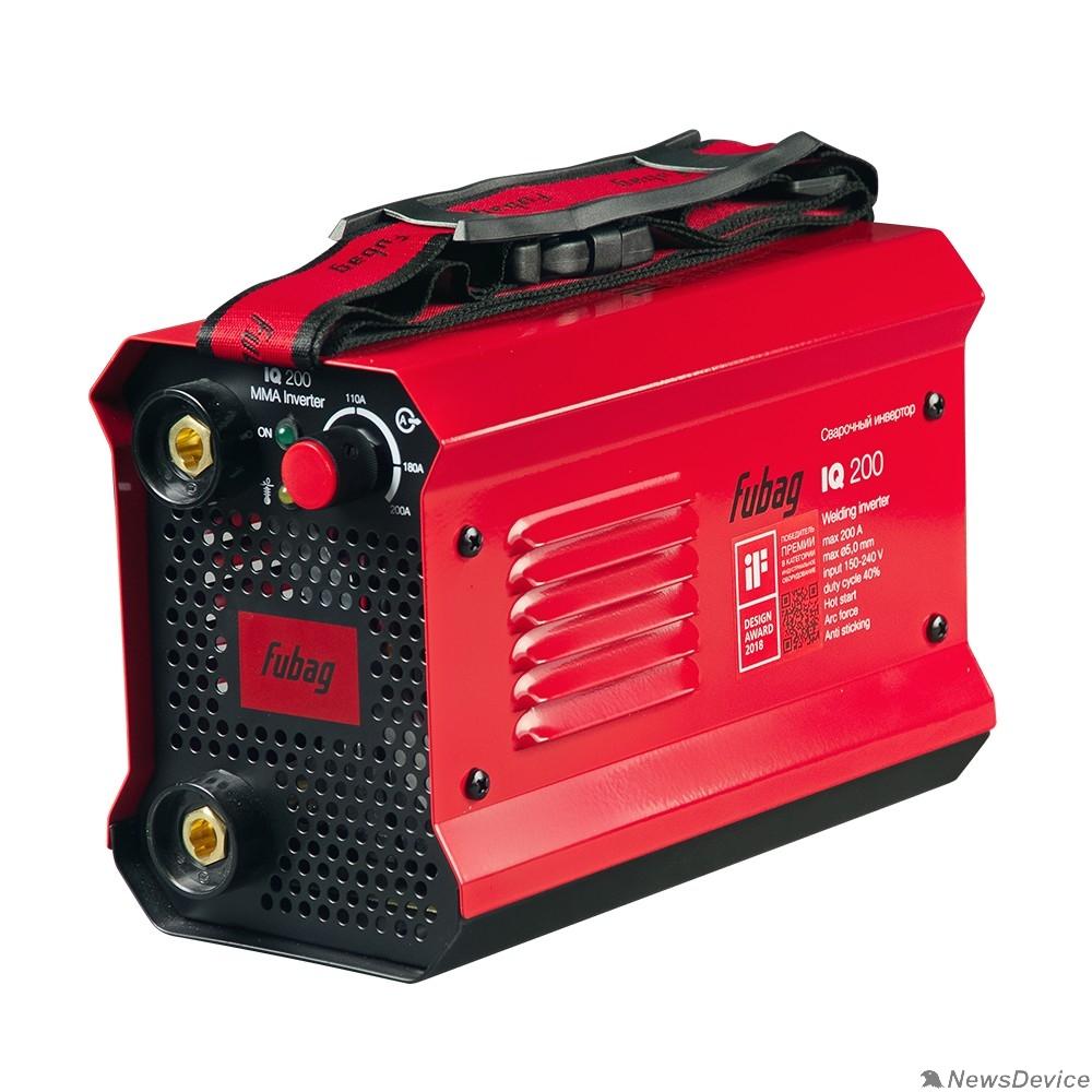 Сварочное оборудование, Инверторы FUBAG IQ 200 Инвертор сварочный  38832/38078 макс.ток 200А_ПВ 40%_раб.напряжение 150-240В