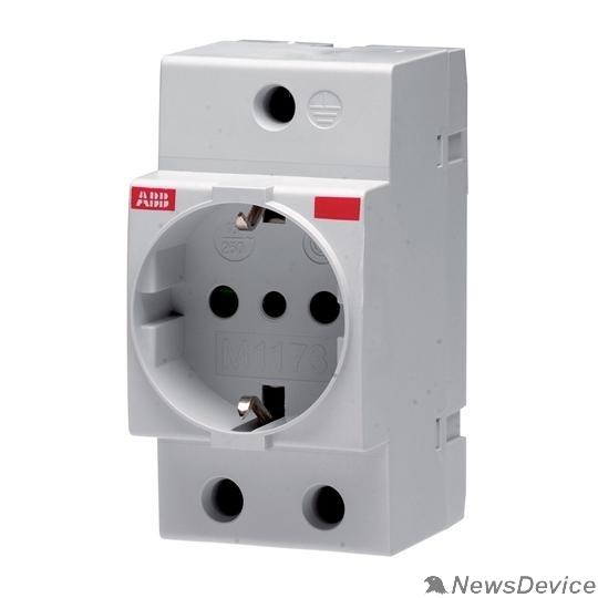 АВВ Дополнительные модульные устройства ABB 2CSM110000R0701 Розетка щитовая 2Р+ N 16A M1173