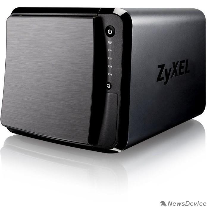 Сетевые хранилища ZYXEL NAS542-EU0101F Сетевое хранилище, 4 отсека для HDD (max. 48Gb), 2xGLAN, Link Aggregation, 3xUSB3.0, слот для карт SD/XC