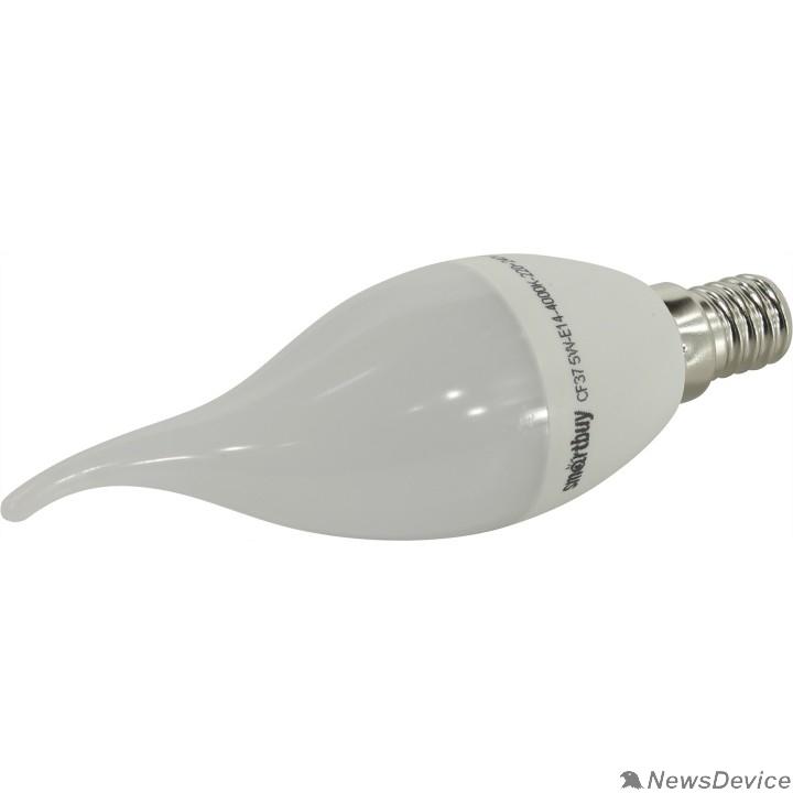 Вспомогательные элементы и аксессуары Smartbuy SBL-C37Tip-05-40K-E14 Светодиодная (LED) Свеча на ветру матовая 05W/4000/E14