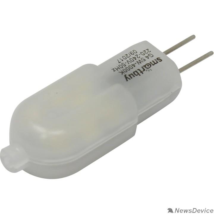 Вспомогательные элементы и аксессуары Smartbuy (SBL-G4220 5-40K) Светодиодная (LED) Лампа G4-220V-5W/4000/G4