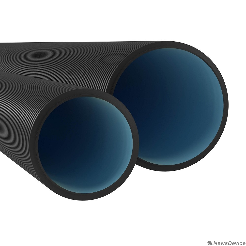 трубы DKC 170911 Двустенная труба ПНД жесткая для открытой прокладки д.110мм, SN8, ПВ-0, УФ, без протяжки, 6м, цвет черный