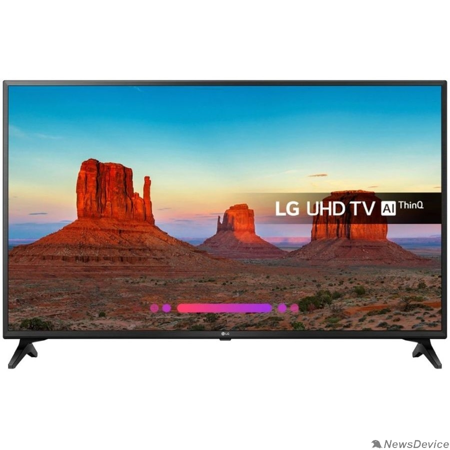 "Телевизор LG 49"" 49UK6200PLA черный Ultra HD/50Hz/DVB-T2/DVB-C/DVB-S2/USB/WiFi/Smart TV"