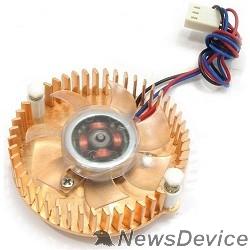 Вентилятор Gembird Вентилятор для видеокарт VC-RE,  3pin/4pin (медн.радиатор, подсветка)