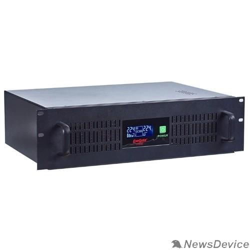 ИБП Exegate EP270874RUS ИБП Exegate Power RM Smart UNL-1500 LCD <1500VA, Black, 2U, 3 евророзетки, USB>
