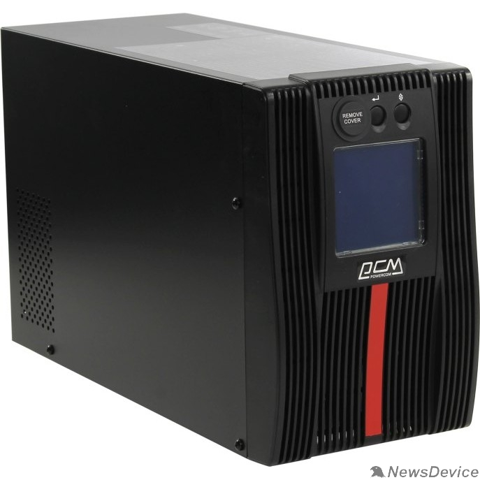 ИБП UPS PowerCom Macan MAC-1000 On-Line, 1000VA / 1000W, Tower, IEC, LCD, Serial+USB, SmartSlot, подкл. доп. батарей