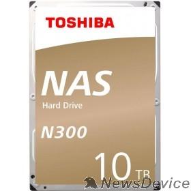 "Жесткий диск 10TB Toshiba N300 (HDWG11AUZSVA) SATA 6.0Gb/s, 7200 rpm, 256Mb buffer, 3.5"" для NAS"