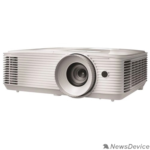 Проектор Optoma EH335 Проектор Full 3D; DLP, Full HD(1920*1080),3600 ANSI Lm, 20000:1;TR=1.48-1.62:1; HDMI (1.4a) x2+MHL; VGA IN; Composite; AudioIN 3.5mm; VGA Out x1; AudioOUT 3.5mm; RJ45;RS232; USB A(Power