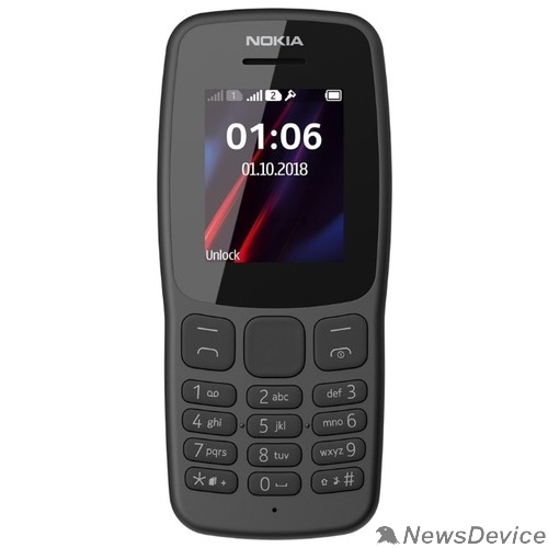 Мобильный телефон Nokia 106 DS TA-1114 GREY 16NEBD01A02