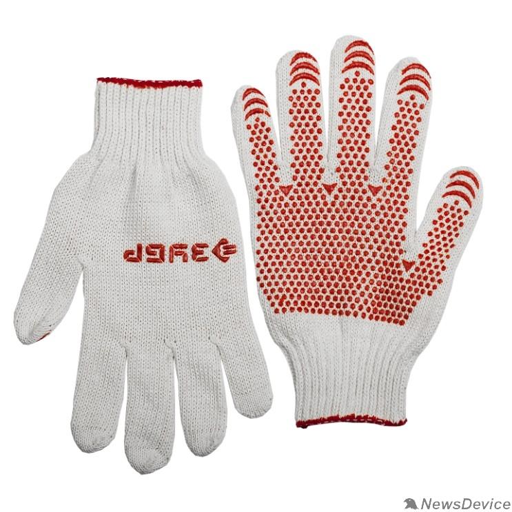 """Перчатки Перчатки ЗУБР """"МАСТЕР"""" трикотажные, 7 класс, х/б, с защитой от скольжения, S-M 11456-S"""