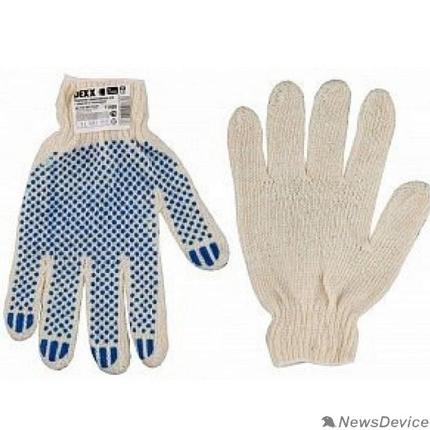 Перчатки DEXX Перчатки трикотажные, 7 класс, х/б, обливная ладонь 114001
