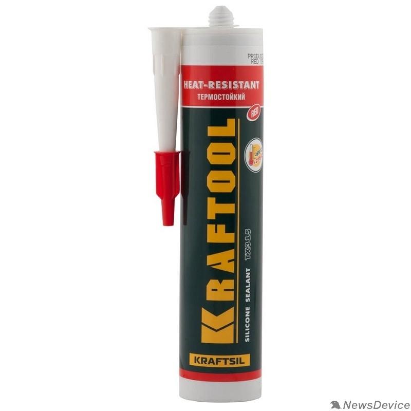 Пена монтажная KRAFTOOL Герметик силиконовый красный, температуростойкий (от -62 С до 275 С), 300мл 41259