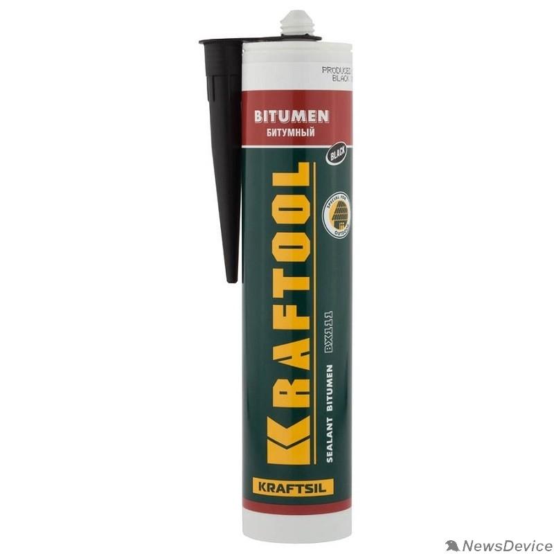 Пена монтажная KRAFTOOL Герметик битумный черный, 300мл 41261