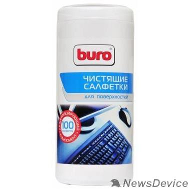 Чистящие средства Туба с чистящими салфетками BURO BU-Tsurface, для поверхностей, 100шт.  817441