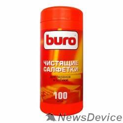 Чистящие средства Туба с чистящими салфетками BURO BU-Tscreen, для экранов и оптики, 100шт. 817439