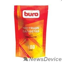 Чистящие средства Запасной блок к тубе с чистящими салфетками для поверхностей BURO BU-ZSURFACE 100 шт. 817447