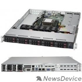 "Сервер Supermicro SYS-1019P-WTR Серверная платформа SYS-1019P-WTR Supermicro 1U, 2x500W, 1xLGA3647, iC622, 6xDDR4, 10x2.5"" Drive, 2x10GbE, IPMI, RMKit"