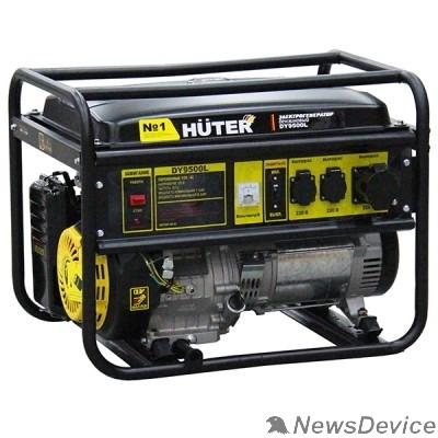 Huter Генераторы Huter DY9500L 64/1/39 Электрогенератор  четырехтактный, 7500Вт, 220В/50Гц, 91Дб, принудительное охлаждение, бак 25 л, расход бензина 374 г/кВтч, расход масла 6,8 г/кВтч, ручной стартер